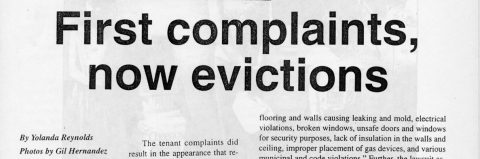 First complaints, now evictions