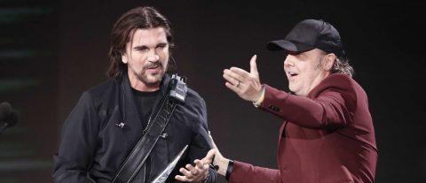 Metallica se sube al escenario de los Latin Grammy para homenajear a Juanes