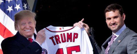 Ausencias, una gorra y loas protagonizan la visita de los Nacionales a Trump