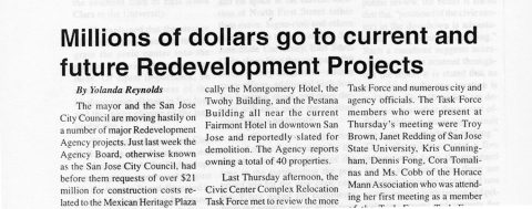Millions of dollars go to current and future Redevelopment Projects