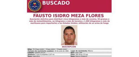 """EE.UU. ofrece recompensa de cinco millones de dólares por """"Chapo Isidro"""""""