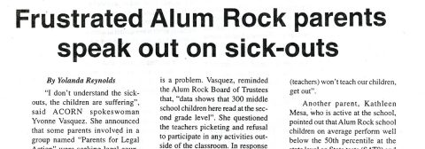 Frustrated Alum Rock parents speak out on sick-outs