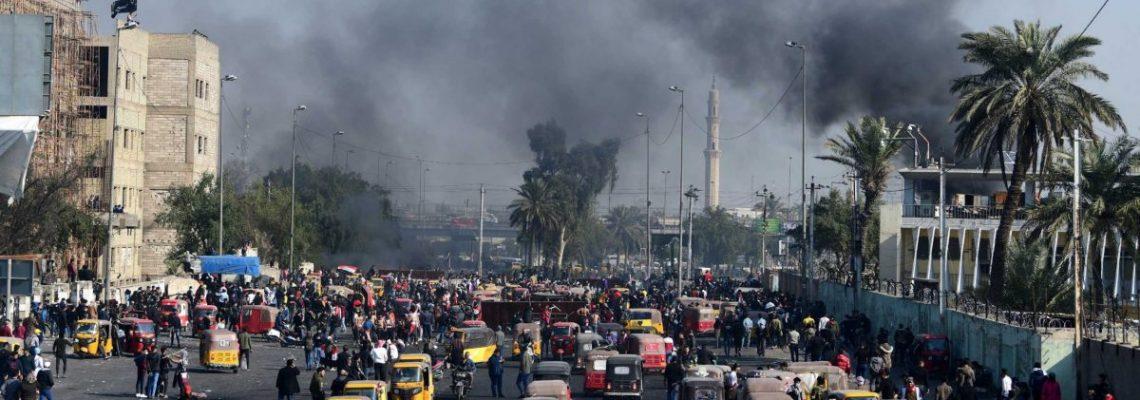 Suben a 5 los muertos durante las protestas en Irak, entre ellos 2 militares