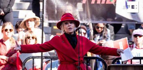 Jane Fonda y Joaquín Phoenix trasladan a Hollywood su lucha por el clima