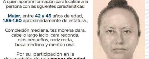 Difunden el retrato robot de mujer que secuestró a niña asesinada en México