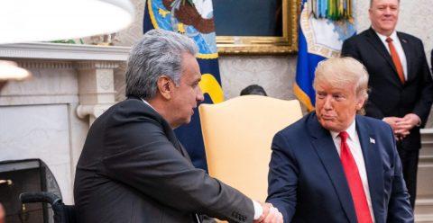 """Trump busca un acuerdo comercial con Ecuador y ofrece ayuda """"con los narcos"""""""