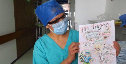 La última terapia contra la COVID en México: dinámicas para distraer la mente