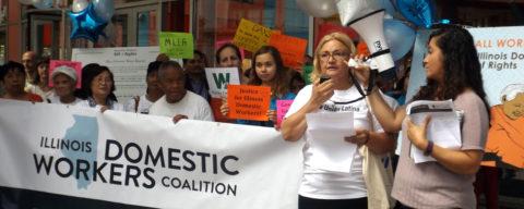 Trabajadoras domésticas piden a gobernador que firme nueva ley laboral