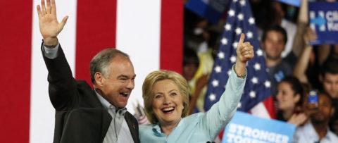 Kaine y Clinton debutan juntos en Miami con mensaje de optimismo y diversidad