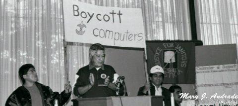 """César Chávez in San José – 1991:  """"Justice for Janitors"""""""