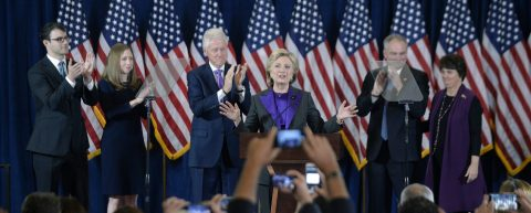 Hillary Clinton delivers poised, emotional concession speech
