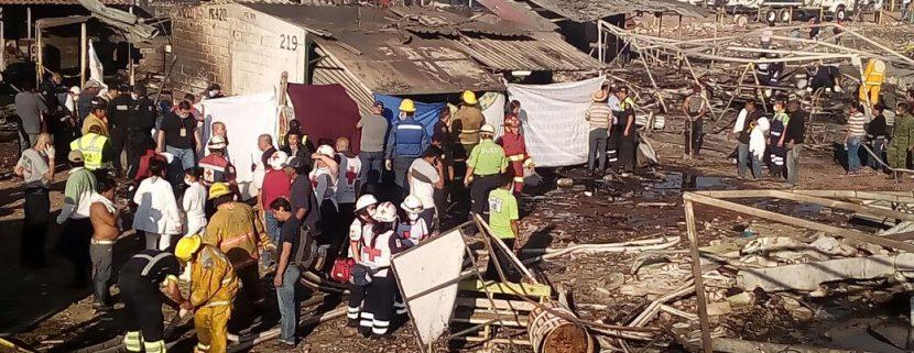 Explosiones en mercado mexicano de pirotecnia causan 36 muertos y 72 heridos