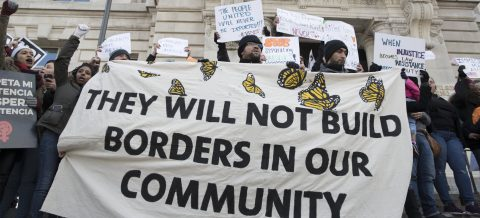 """Workers take protest to White House on """"Day Without Immigrants"""""""
