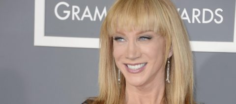 Comedian Kathy Griffin sparks outrage with photo holding bloody Trump head