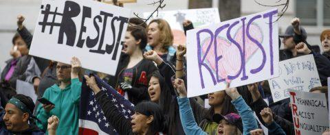 Hundreds march in US demanding Trump investigation