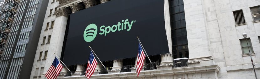 Music streaming service Spotify goes public