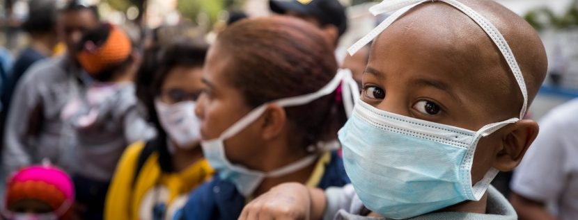 Children with cancer protest lack of medical care at Caracas hospital