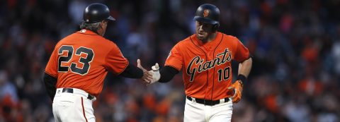 Longoria, Crawford hit home runs for Giants in 6-4 win against Dodgers