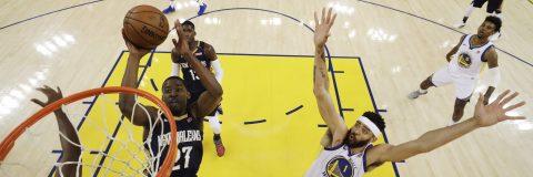 123-101. Durant y Warriors comienzan semifinales con exhibición ante Pelicans