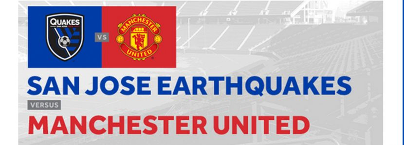 Earthquakes to Play Manchester United on July 22 at Levi's Stadium