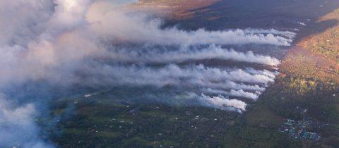 Erupción de lava continúa en múltiples puntos del volcán de Hawái