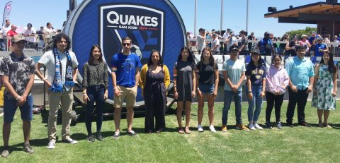 Earthquakes, Wells Fargo presented $25,500 in Goals for Education scholarships