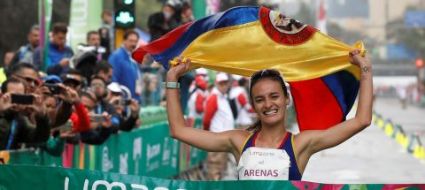 Sandra Arenas da a Colombia primer oro en marcha y establece nuevo récord