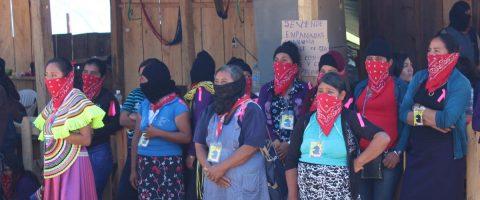 Mujeres zapatistas y feministas llaman a la unión en el sureste de México