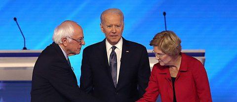 Vuelan cuchillos en el primer debate demócratas con las primarias en marcha