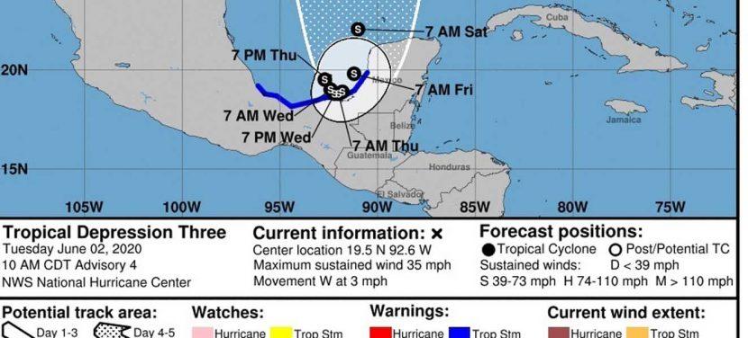 Se forma en el Golfo de México la tormenta tropical Cristóbal