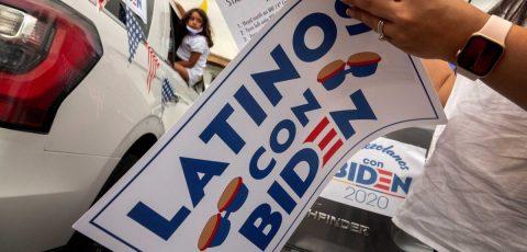 Latinos influidos tras las protestas raciales y a favor de votar a Biden
