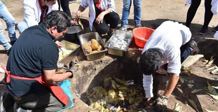Cocina ancestral andina en Ecuador convierte la tierra en un volcán culinario