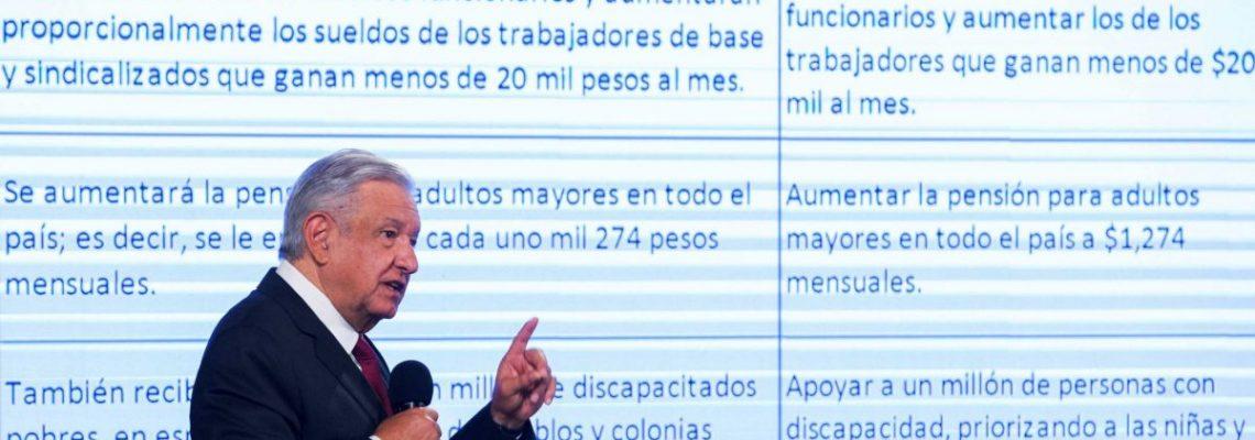 Los cinco compromisos que López Obrador admite no haber cumplido todavía