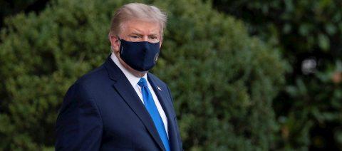 Trump., con COVID-19, se despierta con una cascada de tuits pidiendo el voto
