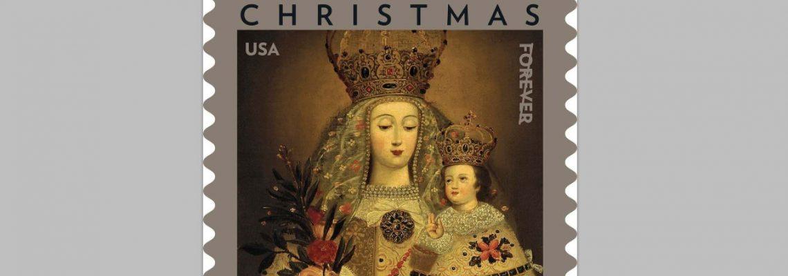 EE.UU. lanza una estampilla navideña con una pintura peruana de la Virgen del siglo XVIII