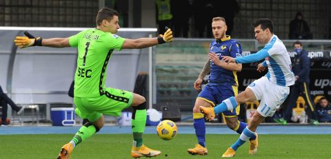 Lozano marca el gol más rápido del Nápoles en la Serie A