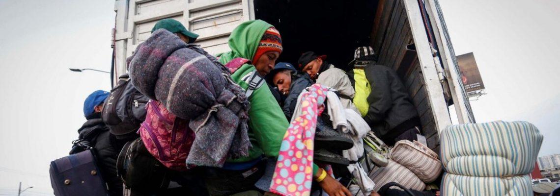 La Guardia Nacional mexicana intercepta a 156 migrantes hacinados en un camión